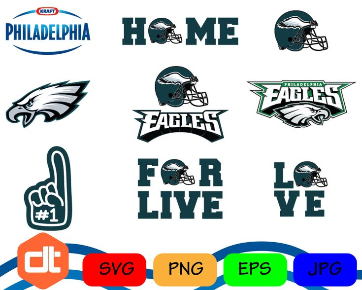 Philadelphia Eagles Logo Svg Eps Png Jpg Cut Vector File Silhouette Cameo Cricut Design Vinyl Decal - INSTANT DOWNLOAD by DithoDesignShop on Etsy