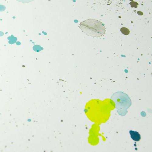 Designpapier Natur 'Neon-Grün Farbspritzer'