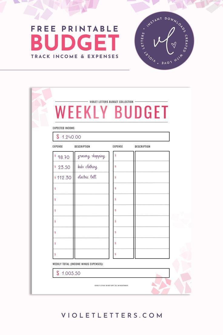 Freebie Weekly Budget Printable Pdf Budget Printables Weekly Budget Printable Weekly Budget