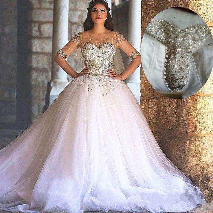 25 cute bling wedding dresses ideas on pinterest