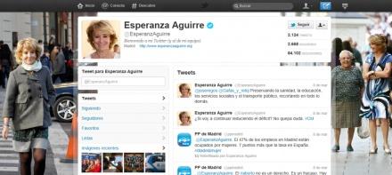 Un paseo por el #Twitter de... Esperanza Aguirre