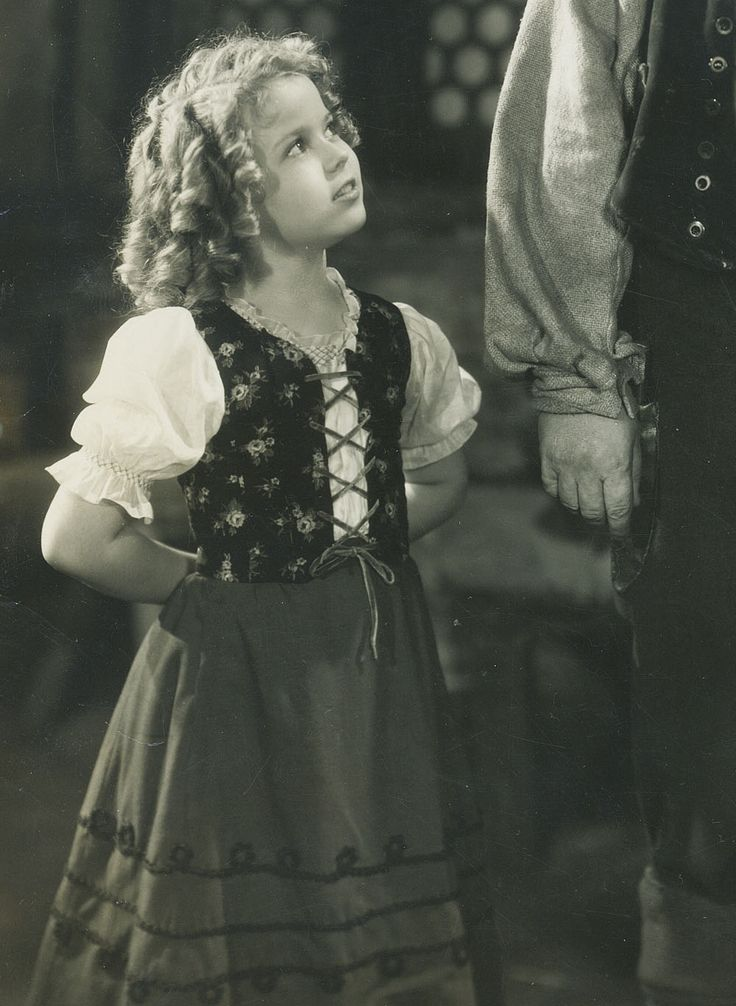 Shirley Temple in Heidi, 1937. Shirley Temple Pinterest
