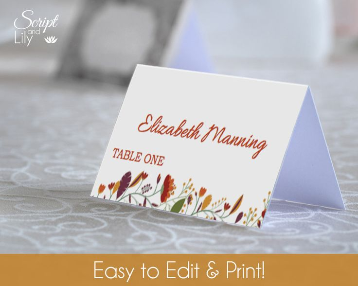 how to print place cards in word
