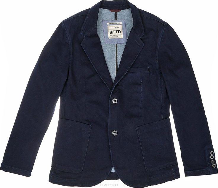 Пиджак мужской Denim. 3922414.62.12, цвет: темно-синий - купить модную одежду Tom Tailor по лучшей цене в интернет-магазине OZON.ru