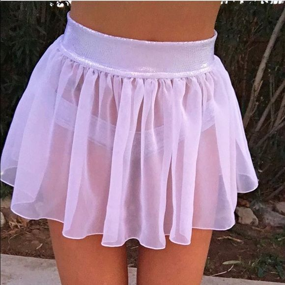 RAVE SKIRT disco cheekz rave skirt, never worn, PERFECT FOR FESTIVALS AND RAVES Skirts Mini