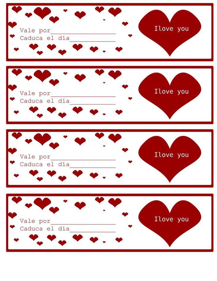 Como ya se acerca San Valentín he decidido ponéroslo súper fácil con esta recopilación de vales o cupones de amor listos para imprimir y/o rellenar. ¡Ya no hay excusas! Pero si quieres hacerlos desde 0 visita mi post Vales del amor con un tutorial paso a paso para hacerlos ;)Os pongo una imagen pequeña y a continuación el link de dónde ponéis descargarla o cómo podéis guardarla en vuestro ordenado ...