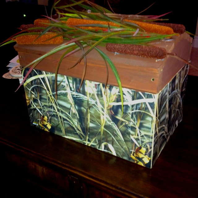 My Card Box For Camo Hunting Themed Wedding