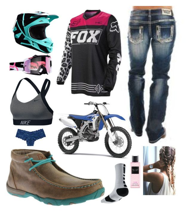 1.7.18 just screwin around by mud-lovin-redneck on Polyvore featuring polyvore fashion style NIKE Twisted X Boots Victoria's Secret Rock & Roll Cowgirl Yamaha clothing