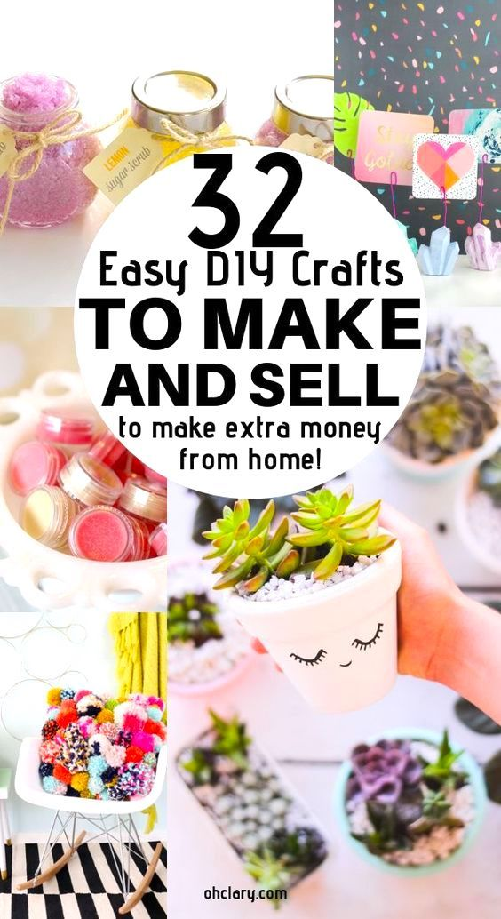 DIY Craft: 32 Handmade Craft Ideas To Sell. These awesome DIY projects to make and sell are awesome to make money from home. Easy DIY craft projects and crafts for kids and children. Just click through to find out how to make these hot craft ideas!