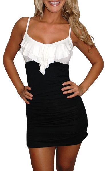 Cute dress!Party Dresses, Style, Clothing, Cute Dresses, Black And White, Parties Dresses, Club Fashion, Black White, Dreams Closets