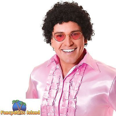 #1970's disco short curly black afro wig ladies mens fancy #dress #costume,  View more on the LINK: http://www.zeppy.io/product/gb/2/281358063196/