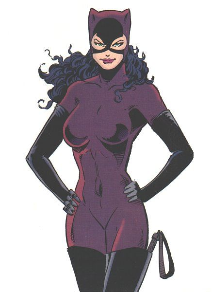 Catwoman- comic books are where I got my ideas of looks and beauty, not fashion magazines