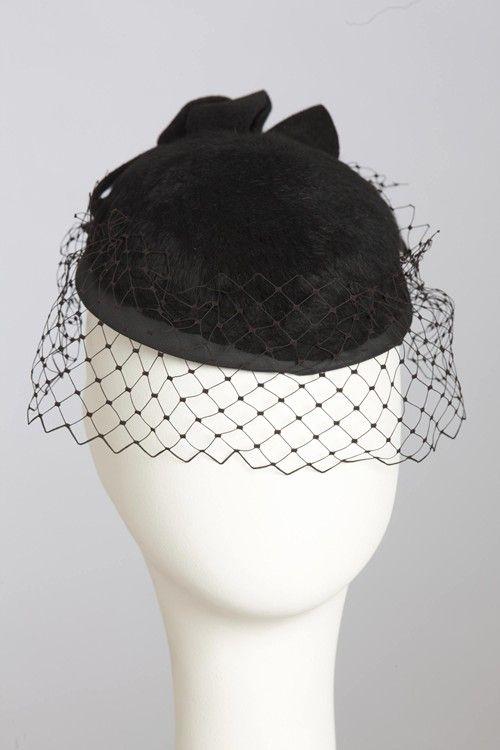 Brushed felt cocktail hat
