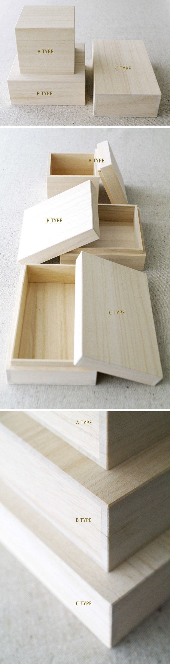 Wooden gift box JAPANESE STYLE B TYPE by karaku on Etsy