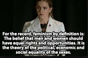 """As well as defining feminism and questioning why women are choosing not to identify as feminists.   Emma Watson Was Told Not To Use The Word """"Feminism"""" During A Speech About Equality"""