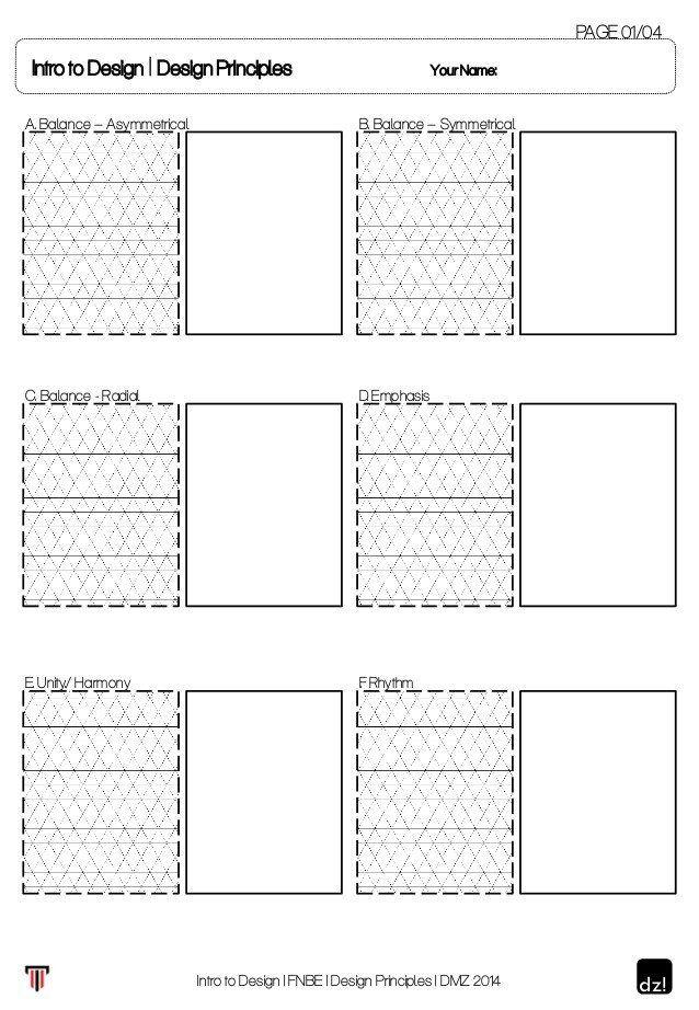 Principles Of Design Worksheet Worksheet For Design Principles Text Structure Worksheets Word Problem Worksheets Worksheet Template Principles of design worksheet