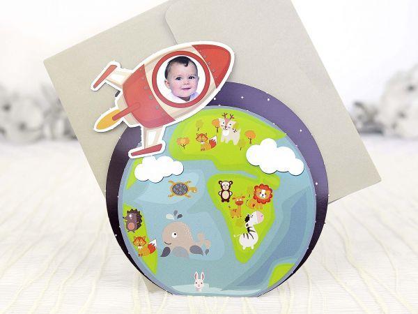 15500 Invitatie de botez racheta pe orbita Pamantu by InvitatiiCreative.deviantart.com on @DeviantArt