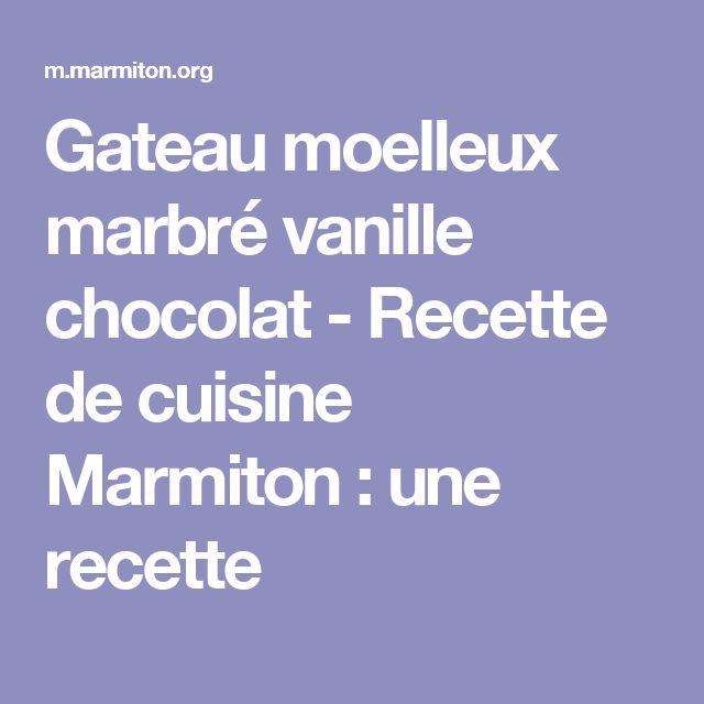 Gateau moelleux marbré vanille chocolat - Recette de cuisine Marmiton : une recette
