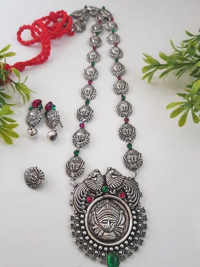 ec6ca71f49 We offers oxidized jhumkas, necklace, bangles, maang tika, kamarband, payal  online. To see collection of oxidized jewellery visit our website: ...