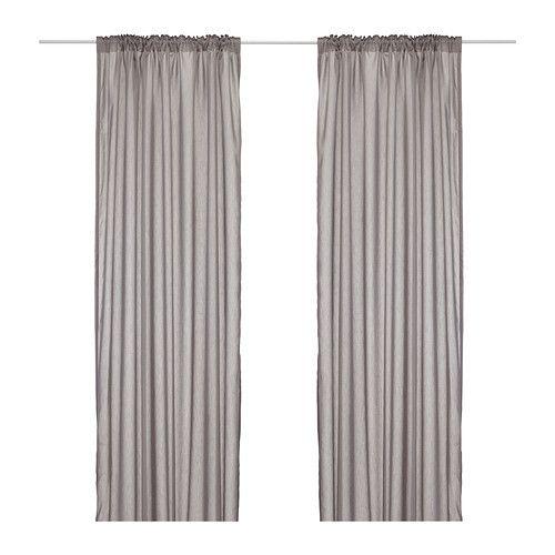 IKEA - VIVAN, Gordijnen, 1 paar, , De gordijnen laten licht door, maar gaan inkijk tegen; perfect voor een laag-op-laagoplossing voor je raam.De gordijnen kunnen aan een gordijnroede of aan een gordijnrail gehangen worden.Met het plooiband kan je eenvoudig plooien maken. Te completeren met de RIKTIG gordijnhaken.Door de blinde lussen kan je het gordijn direct aan een gordijnroede hangen, maar je kan ook ringen en haken gebruiken.