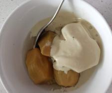 Thermomix Recipe Poached feijoas with licorice ice cream by KMJansen