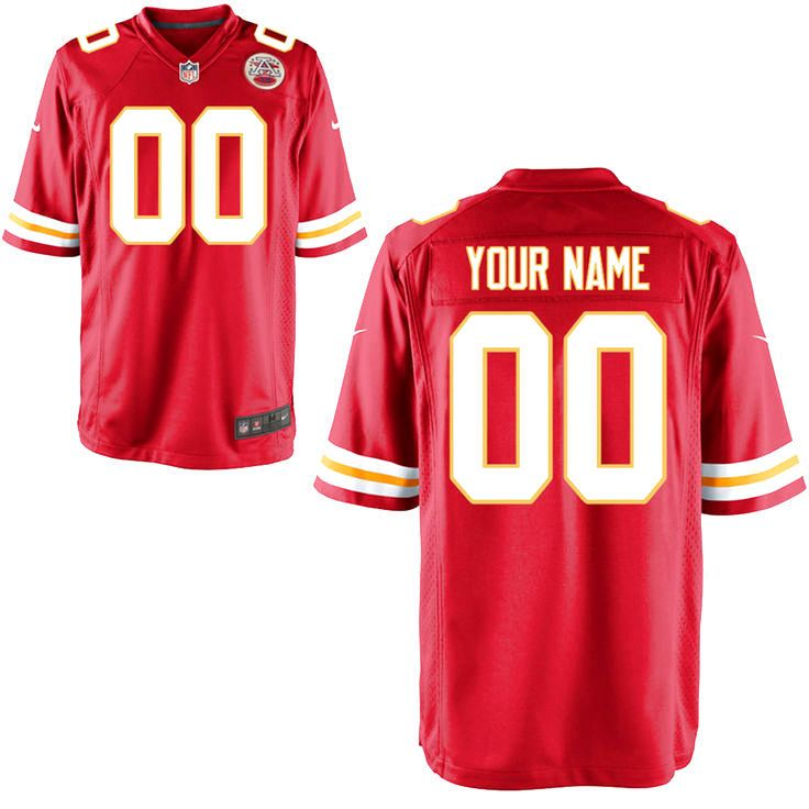 Kansas City Chiefs Nike Custom Game Jersey - Red - $149.99