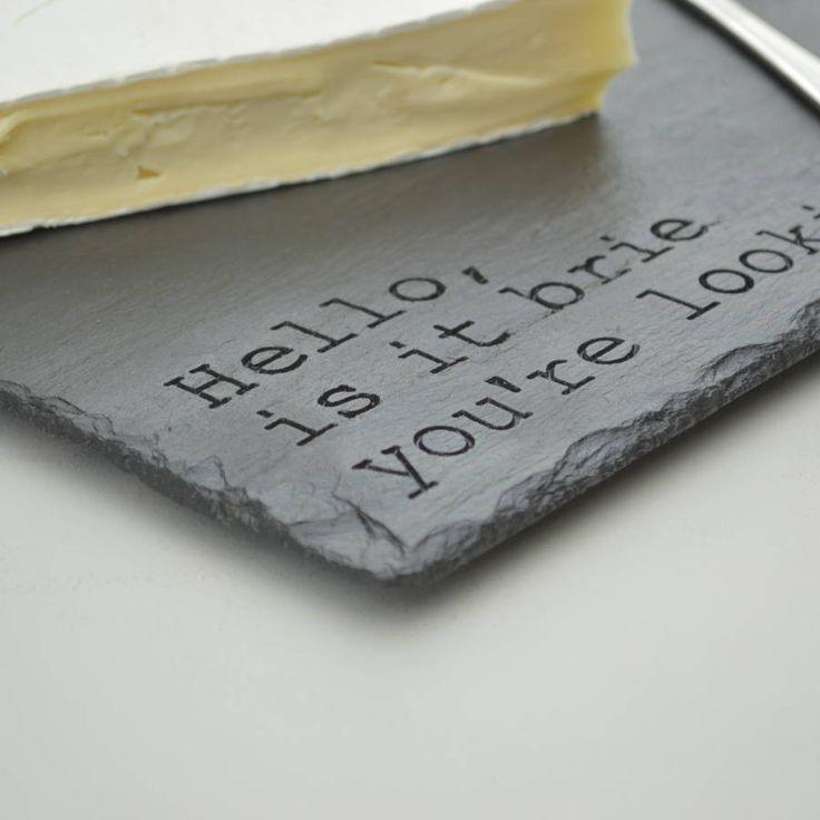 Fun Engraved Slate Cheese Board