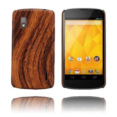 Woody (Ruskea) LG Google Nexus 4 Suojakuori - http://lux-case.fi/woody-ruskea-lg-google-nexus-4-suojakuori.html