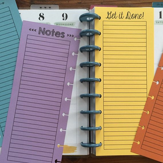 Four Different Designs! Lined Half Sheets {Happy Planner Size, Classic Collection}  Make your Happy Planner even more useful with these