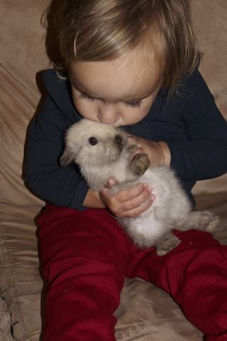 My bubba with bunny