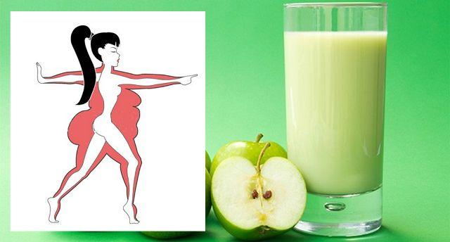 Batido a base de manzana para la grasa abdominal