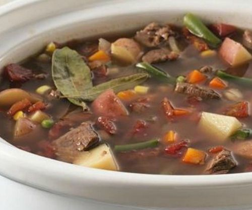 Slow Cooker Yummiest Vegetable Beef Soup