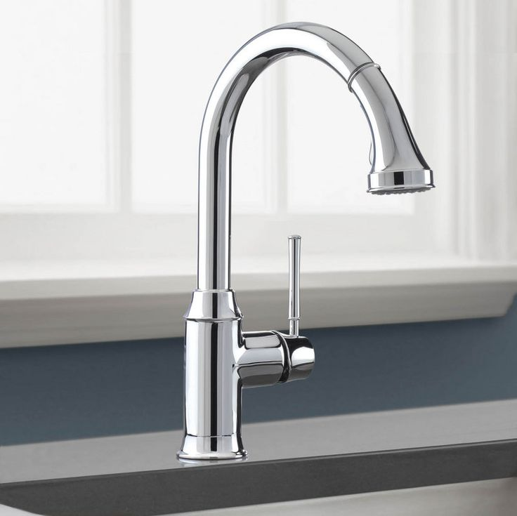 Gallery For Website Hansgrohe Talis C Pull Down Kitchen Faucet with HighArc Spout Magnetic Docking u