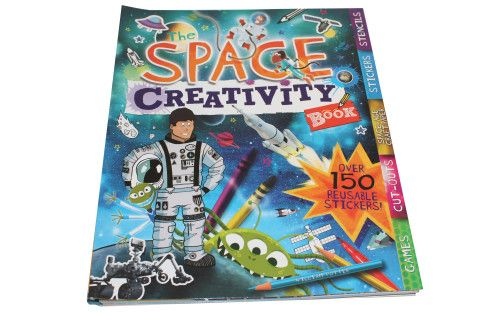Stellar creativity book crammed full of fun activities to explore a fun galaxy full of aliens and spaceships.