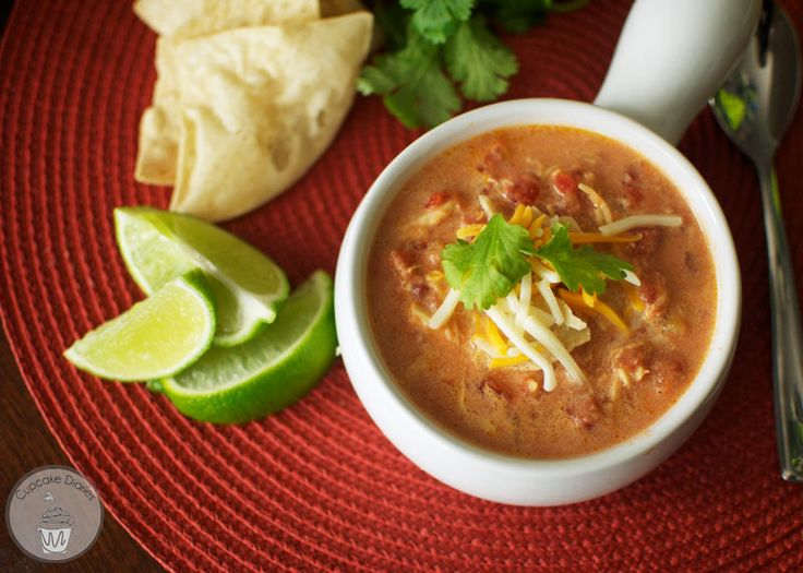 Zesty chicken tortilla soup made in the crock pot. This is a great way to enjoy a Mexican at home!