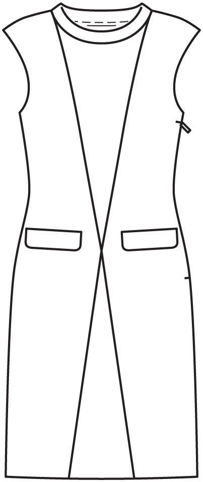 Robe: Burda mode facile rapide 2/2014/4 E / Burdastyle
