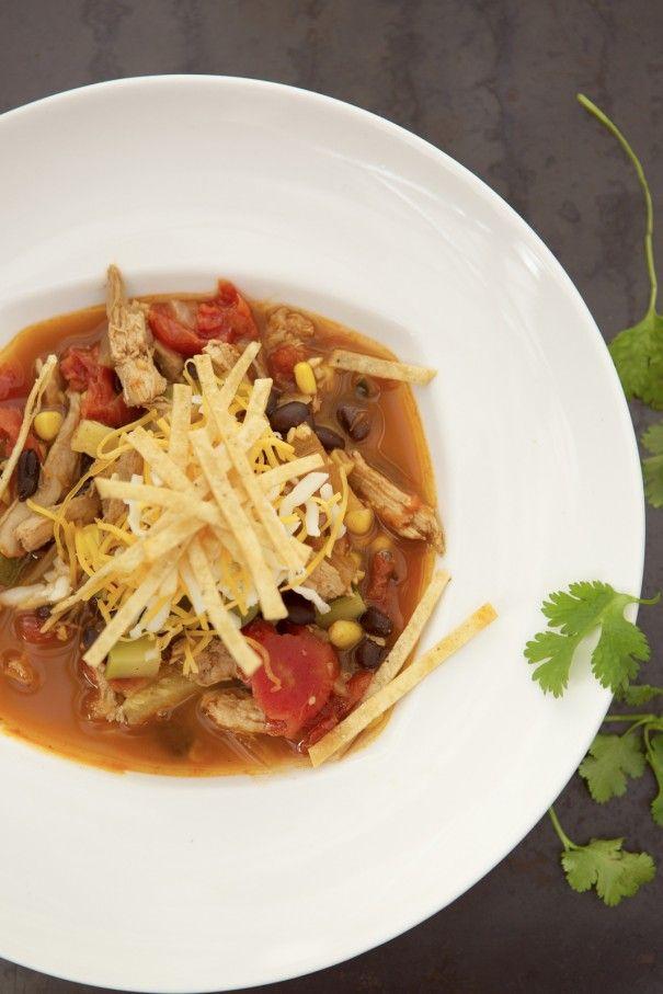 The BEST chicken tortilla soup recipe, by Paula Lambert RN, CDE, of the Wellness Kitchen at the Four Seasons Westlake Village.  #FSEntertainU