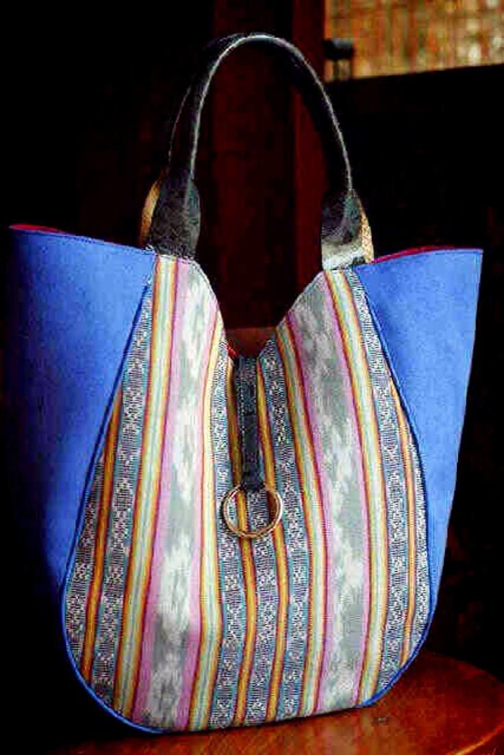 Indonesia tenun ikat bag, hand made