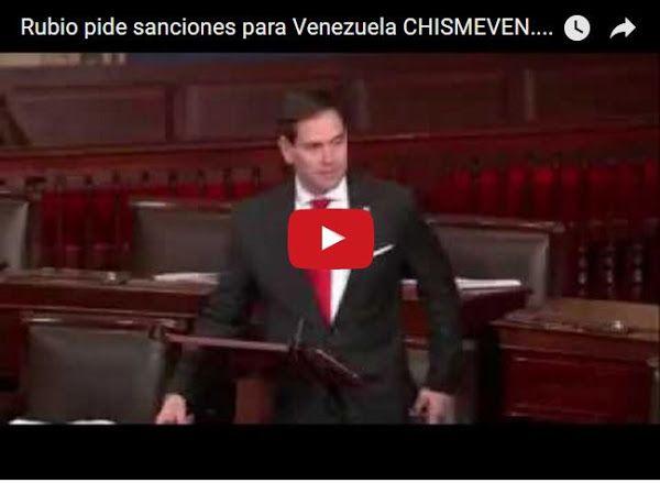 Marco Rubio pide a senado de Estados Unidos que aplique sanciones contra Venezuela  http://www.facebook.com/pages/p/584631925064466