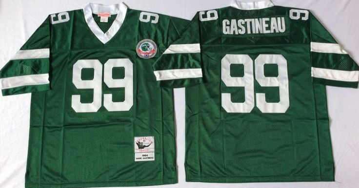 New York Jets #99 Mark Gastineau Green Throwback Jersey