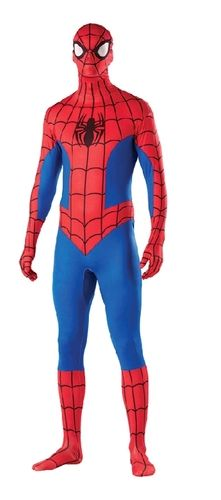 A classic and cool comic book costume!  You'll look like you were ripped straight from an issue of The Amazing Spider-man in the Spiderman Bodysuit Adult Costume which includes: a look-through, breath-through, drink-through full body jumpsuit.
