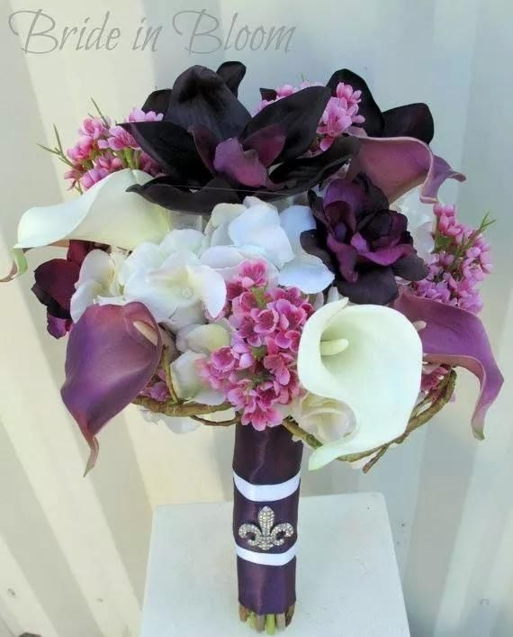 Plum and white Lilies