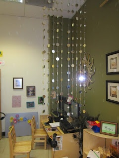 Love this hanging mirror divider. Gorgeous!
