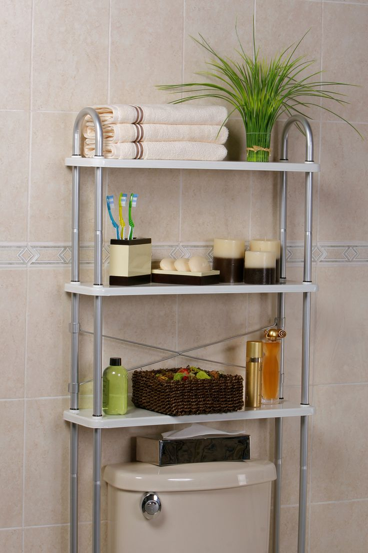 Features: -3 Solid metal shelves to organize all your bathroom needs.  -Weight