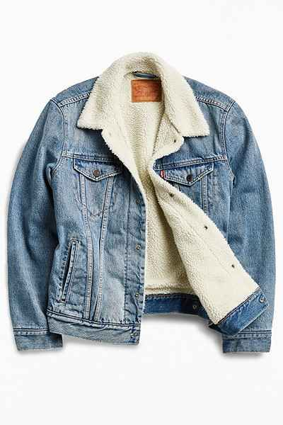 Levis Denim Sherpa Jacket - Urban Outfitters