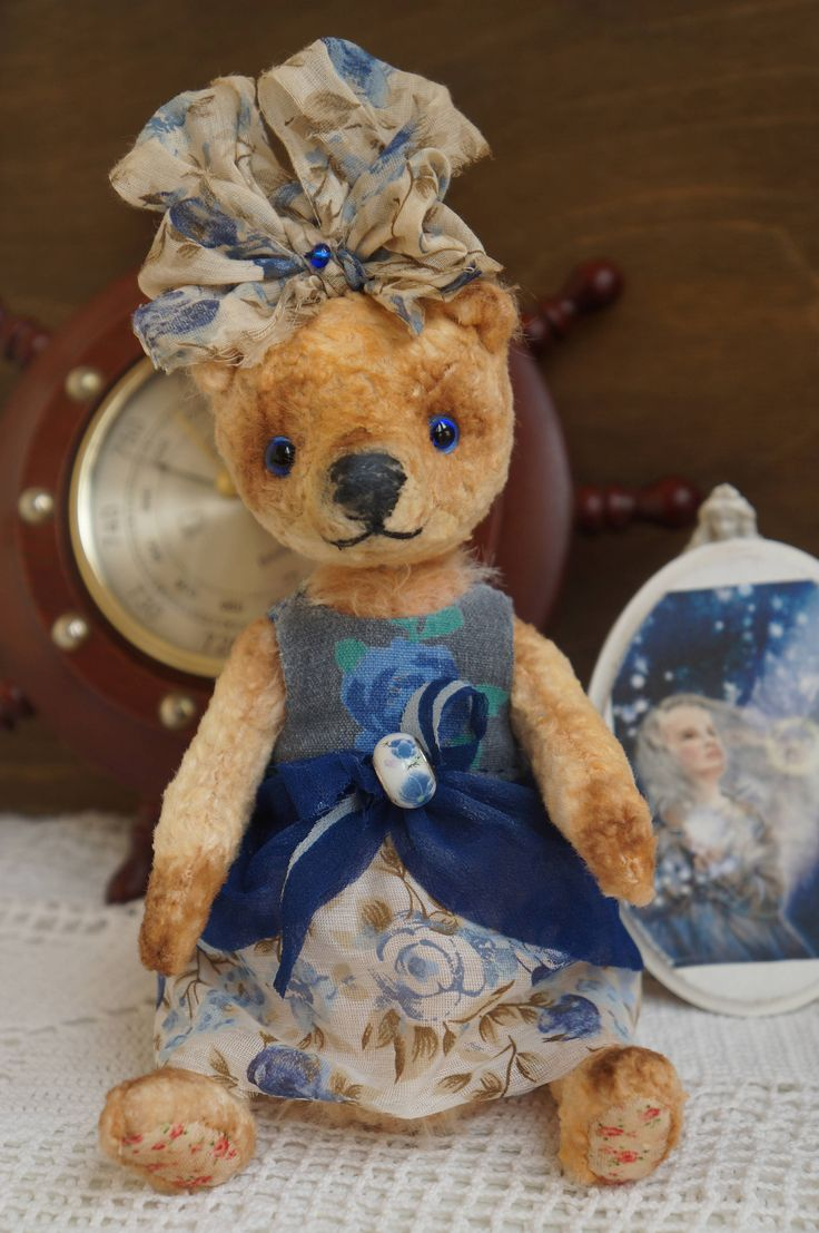 Teddy bear with sawdust, OOAK art teddy bear, Teddy bear, Bear OOAK teddy, Popular artist bears by RussianshawlRustic on Etsy