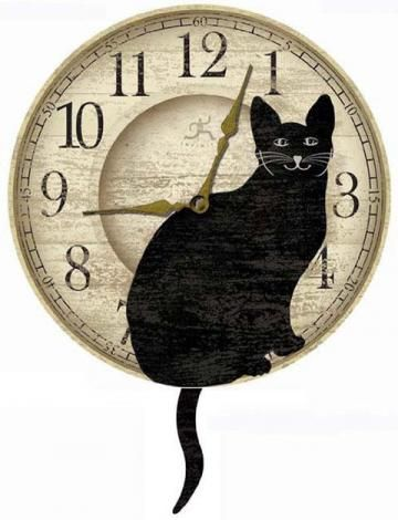 Timepiece - Wagging Cat Tail Pendulum Clock