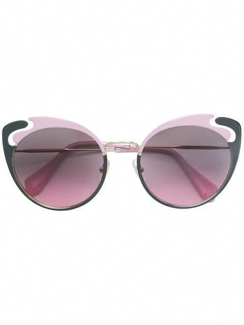 9754013094 Shop Miu Miu Eyewear cat-eye frame sunglasses  MiuMiu