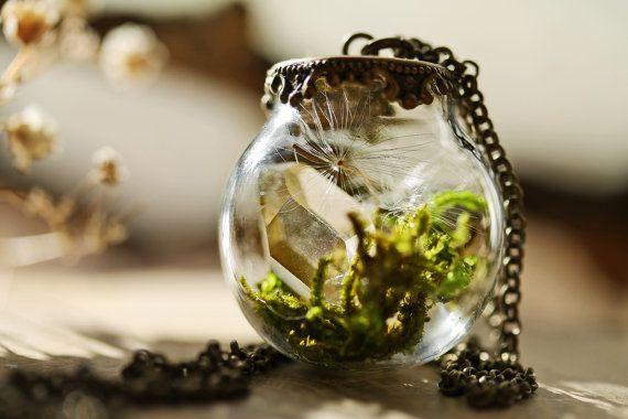 Kristal terrarium ketting miniatuur terrarium door RubyRobinBoutique