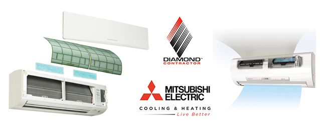 Commercial Mitsubishi Ductless Systems Kcr Inc Ductless Heat Pump Ductless Heat Pump Air Conditioner